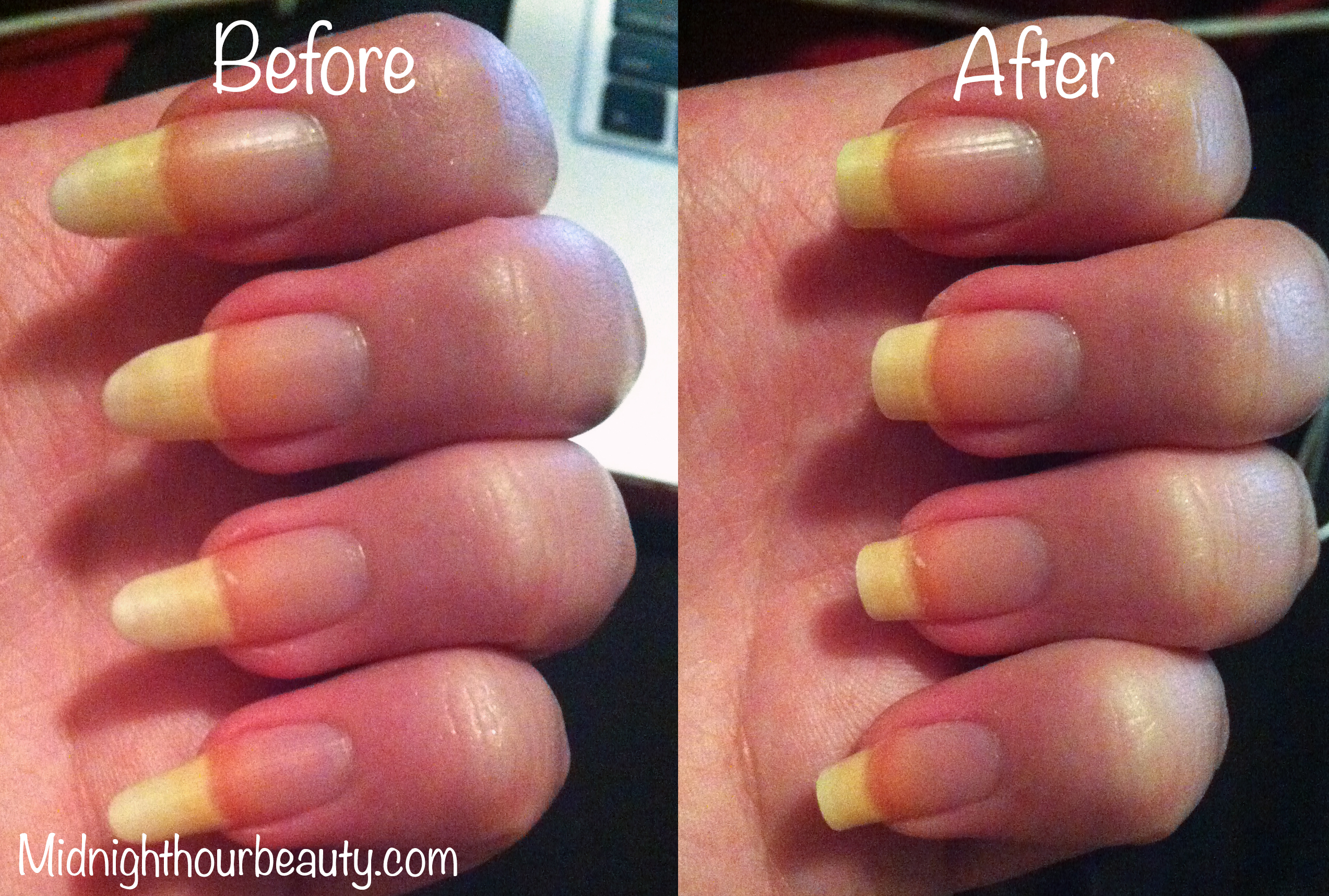 Reshaping and Striped Nail Art | Midnight Hour Beauty